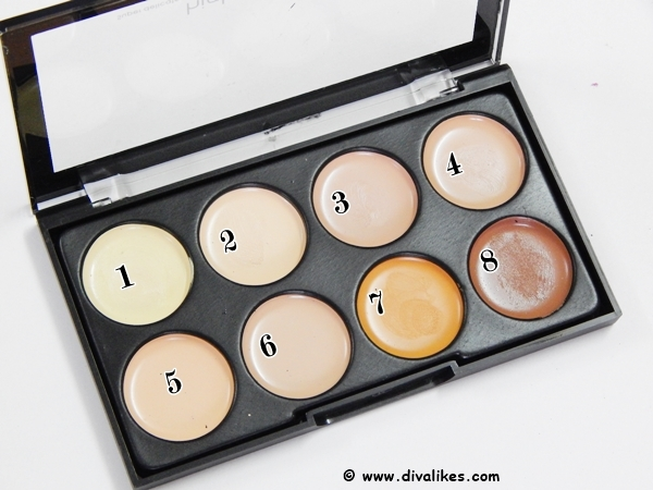 Kiss Beauty Highlighter and Contour Concealer Palette Shades
