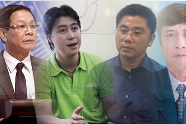 Bị can Phan Văn Vĩnh, Phan Sào Nam, Nguyễn Văn Dương, Nguyễn Thanh Hóa.