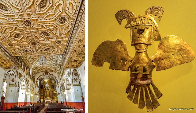 Bogotá: Igreja de San Agustín e Museu do Ouro