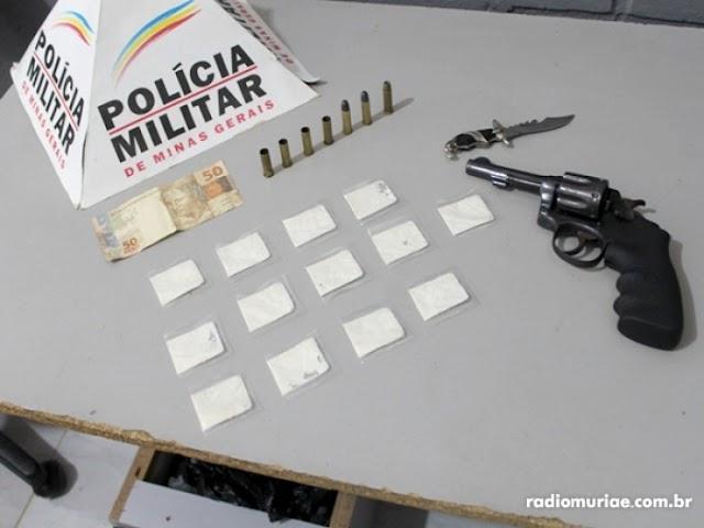 Orizânia: Homem é preso com revólver municiado e cocaína