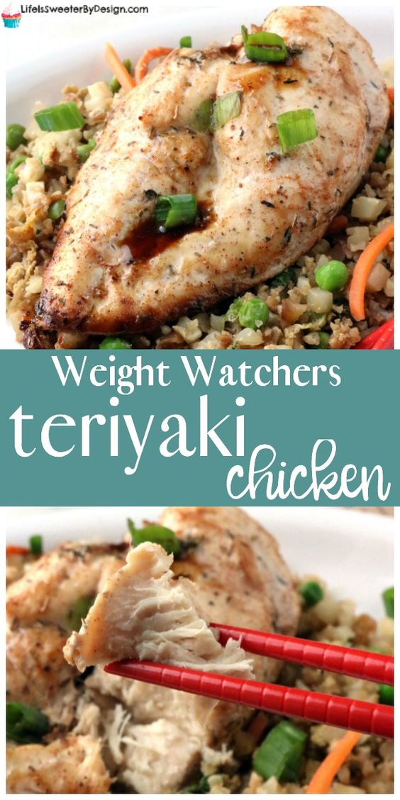 Weight Watchers Teriyaki Chicken is a great Weight Watchers recipe that the whole family will love. This easy Weight Watchers dinner recipe goes great with cauliflower fried rice too!