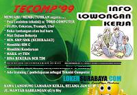 Bursa Kerja Surabaya Terbaru di Tecomp 99 Nopember 2019