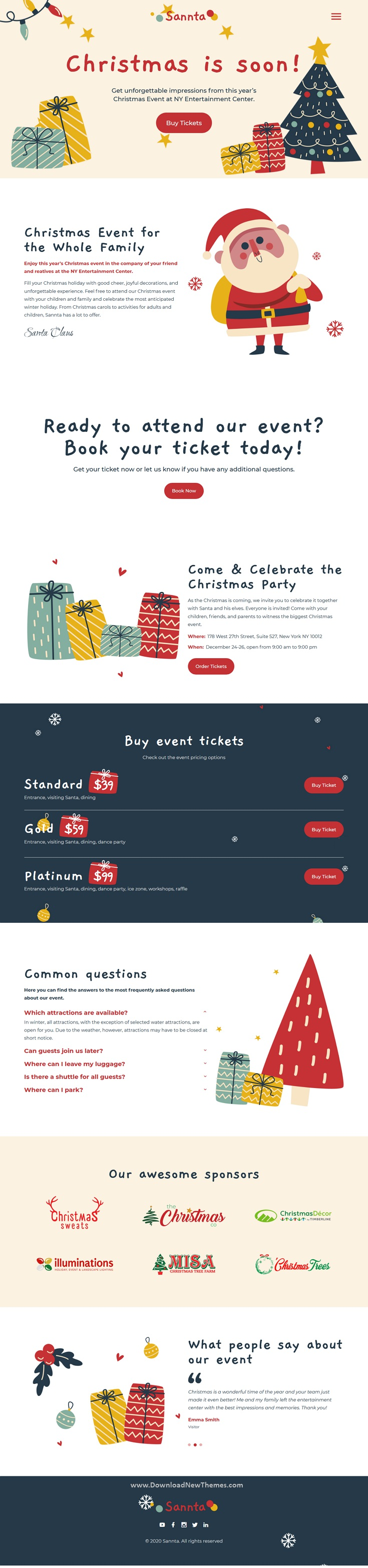 Event Christmas Landing Page Template