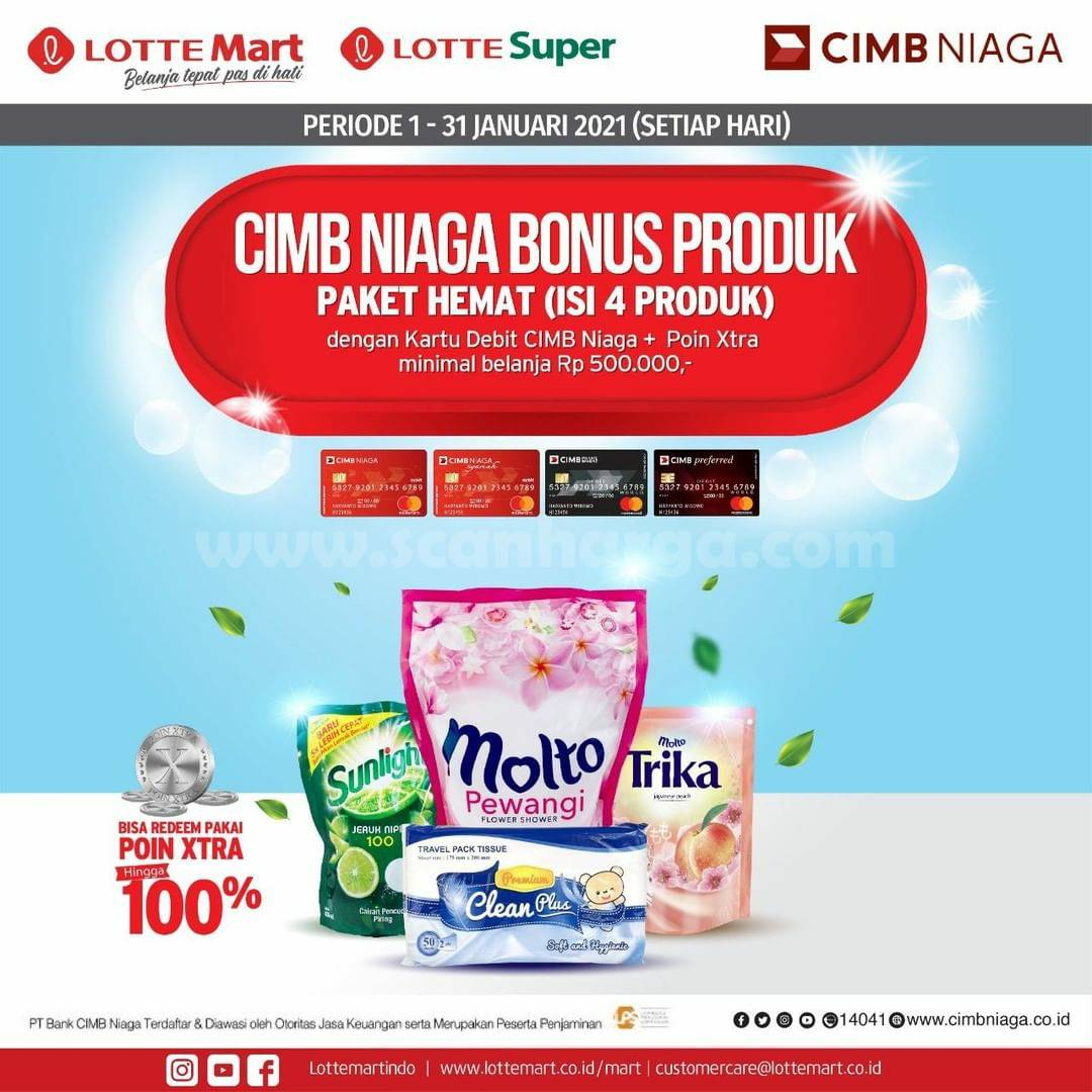 LOTTEMART Promo GRATIS Paket New Normal dengan Kartu Debit CIMB Niaga