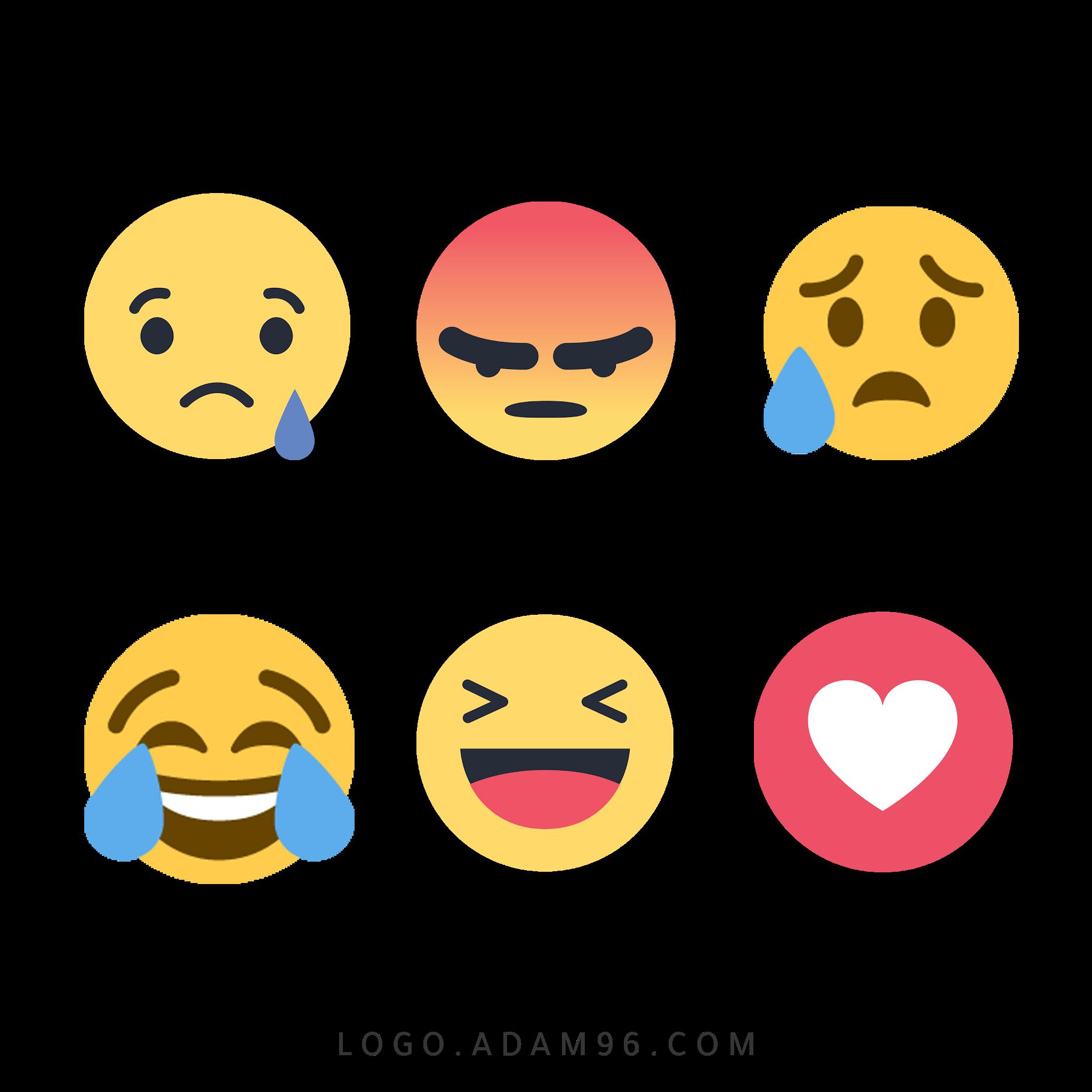 تحميل ايقونات ايموجي فيس بوك عالية الدقة بصيغة شفافة PNG