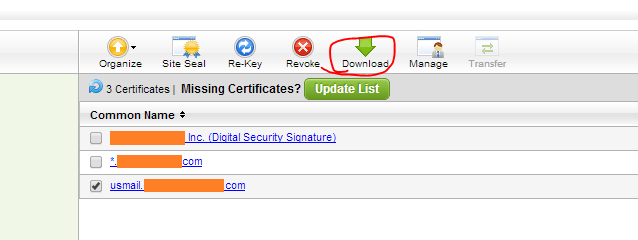 Bitester: Renewing A GoDaddy Exchange 2007 Certificate