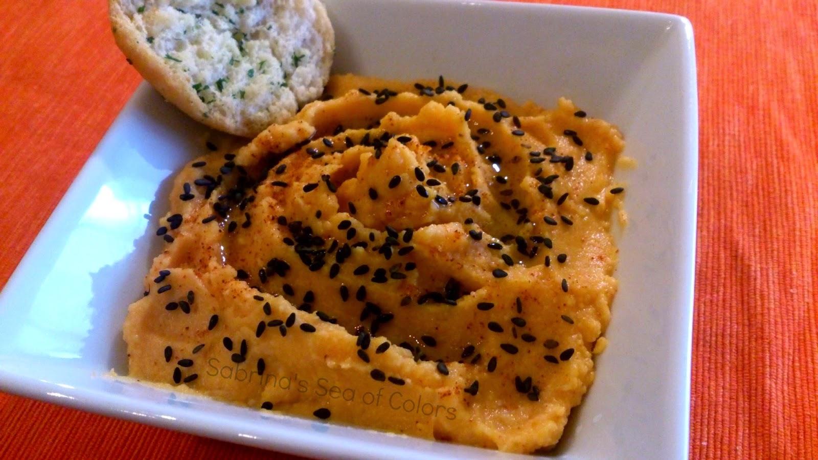 Hummus de calabaza sabrina s sea of colors - Cenas sencillas para sorprender ...