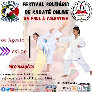 Festival Solidário de Karate On-Line