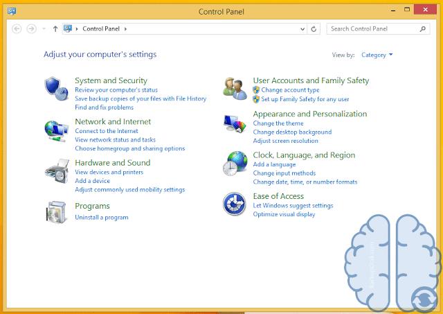 Tahapan Membuka Control Panel Di Windows 8 Dan 8.1