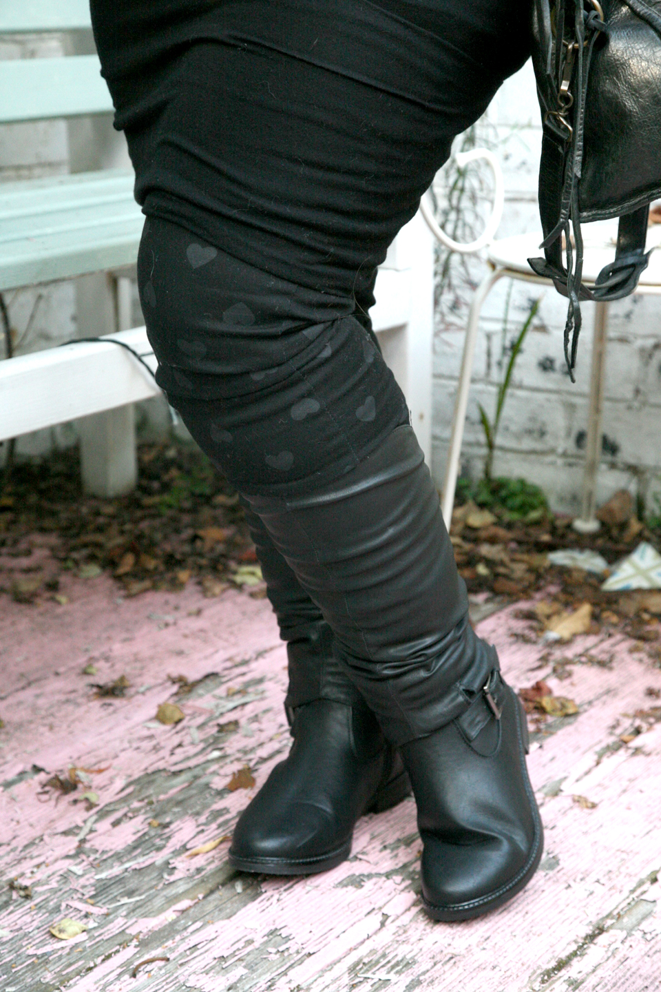 Rock Chick Style And Knee High Boots Pamper And Curves