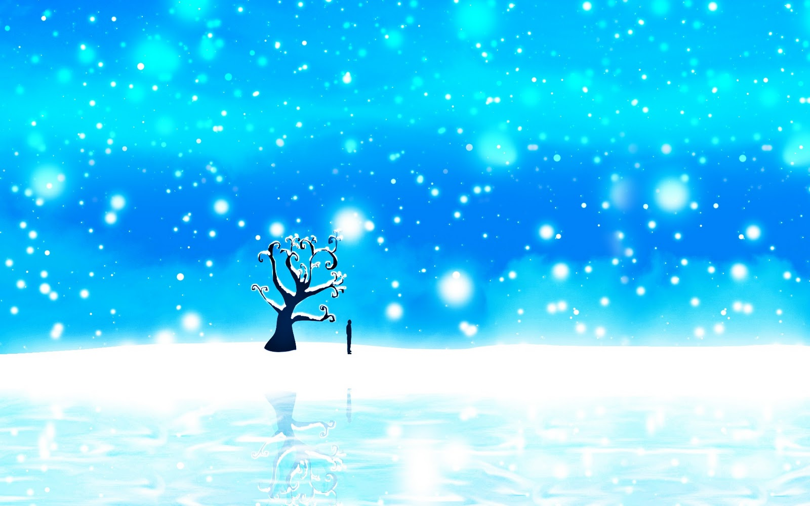 Lonely on a Blue Christmas HD Wallpaper 1080p ~ The Wallpaper Database