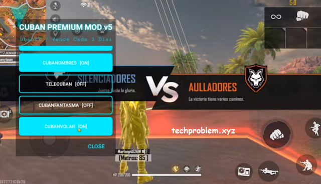 Free Fire Mod Menu Cuban Premium V5 Auto Headshot No Root