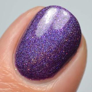 eggplant holographic nail polish