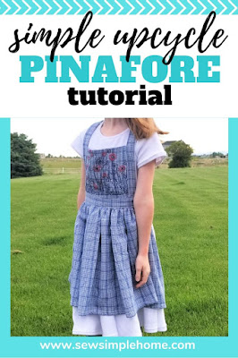 Sew your own simple pinafore pattern with this step by step tutorial and simple photos to follow.