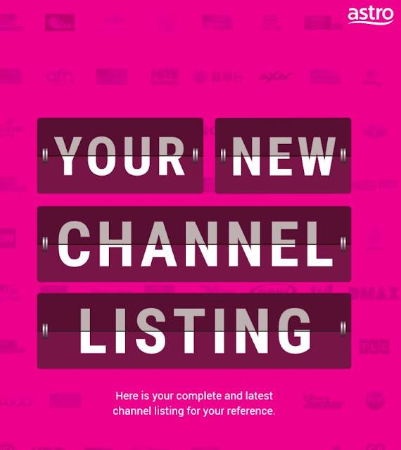 Senarai terbaru nombor saluran Astro 2020