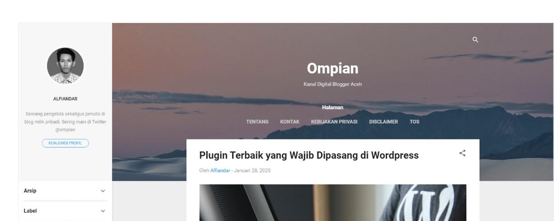 Template Bawaan Blogger Contempo