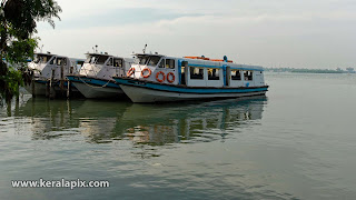Boats anchored at Ernakulam KSINC jetty