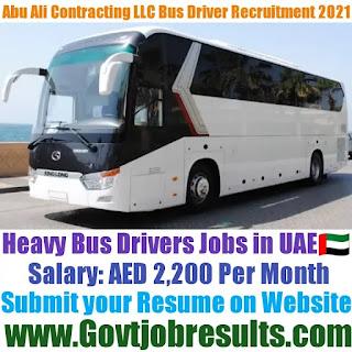 Abu Ali Contracting Heavy Bus Driver Recruitment 2021-22