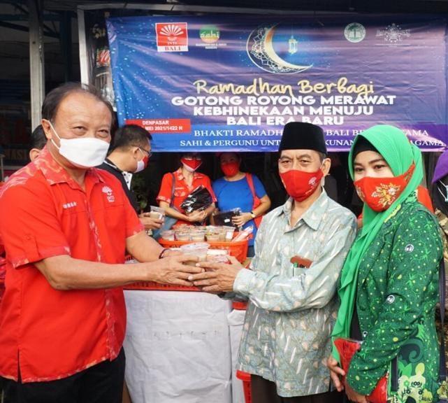 Merawat Kebhinekaan, INTI Bali dan IKBS Kembali Gandeng Pergunu Bali Untuk Ramadhan Berbagi