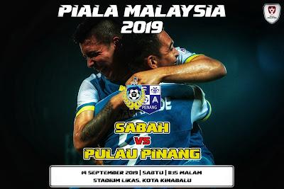 Live Streaming Sabah vs Pulau Pinang (Piala Malaysia) 14.9.2019