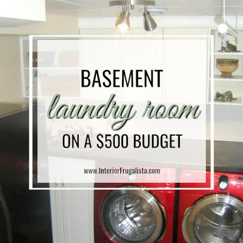Basement Laundry Room On A $500 Budget