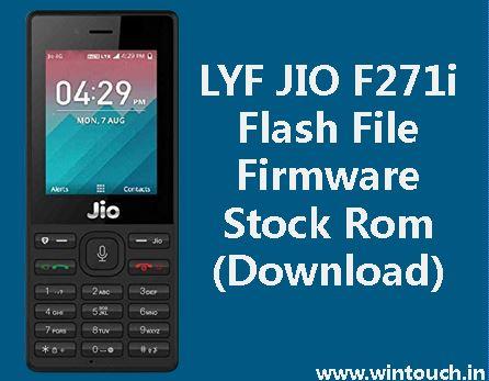 Jio Phone F271i Flash File (Stock Firmware ROM)