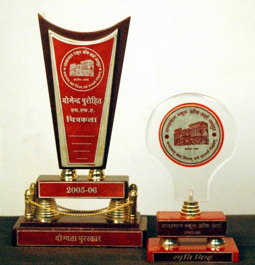 Academic Award From Rajasthan School of art , 2005-06