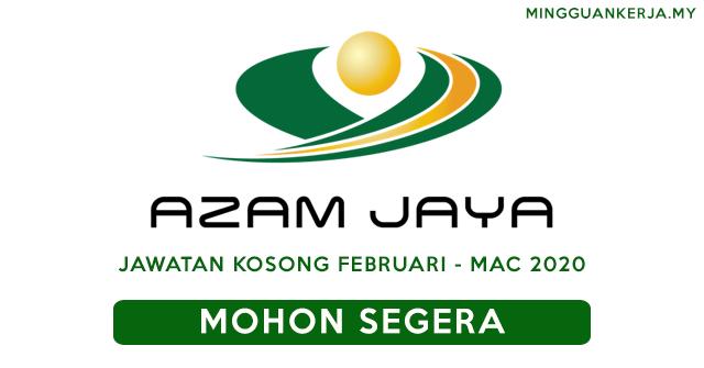 Peluang Pekerjaan Terkini di Azam Jaya Properties Sdn Bhd ~ Permohonan Februari - Mac 2020