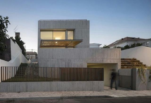 Elegant Gray Exterior 2 Storey House Design