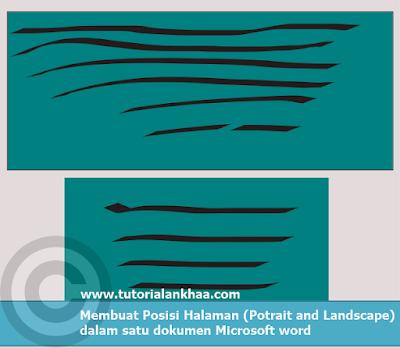 Membuat Posisi Halaman (Potrait and Landscape) dalam satu dokumen Microsoft word
