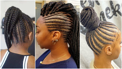 Latest Ghana Weaving Hairstyles: Top 30 Best Ghana Weaving Hairstyles - Beauty and Styles