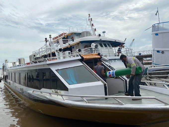 Alcoa realiza transporte de cilindros de oxigênio para municípios do Oeste do Pará