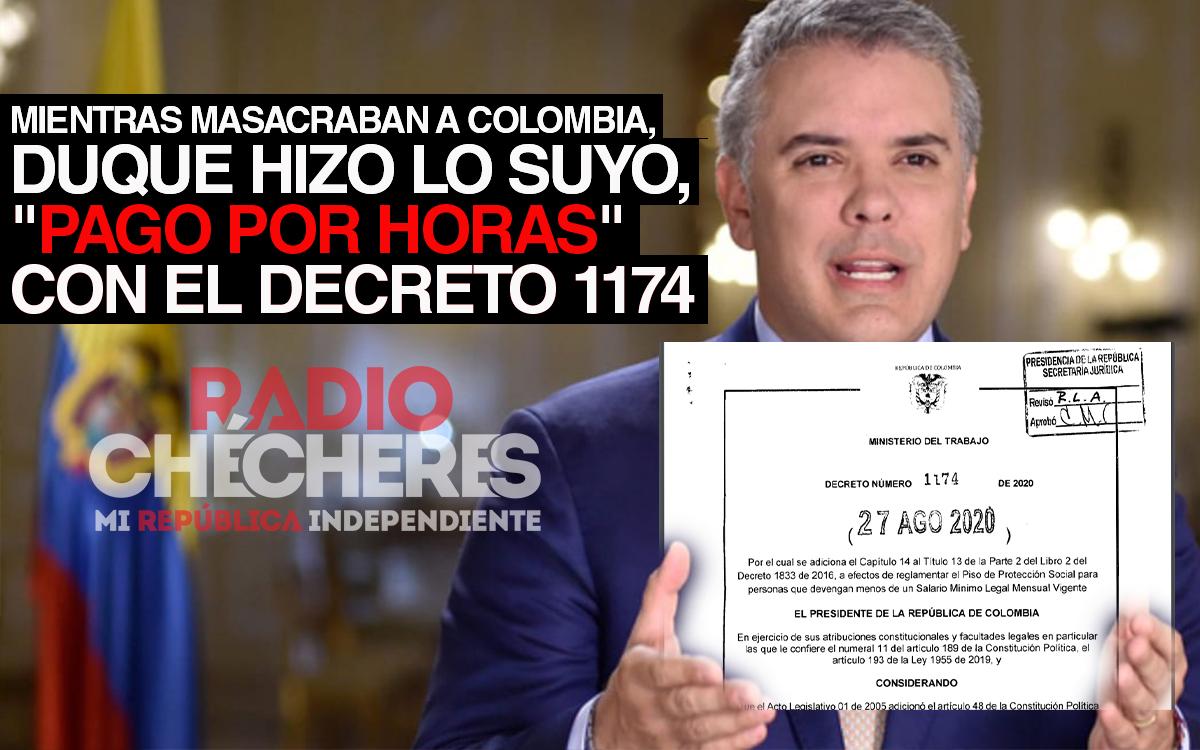 """Mientras la masacre deboraba a Colombia, Duque hizo lo suyo, """"pago por horas"""" a trabajadores con el Decreto 1174"""