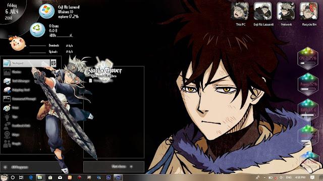 Windows 10 Ver. 1803 Theme Black Clover by Enji Riz