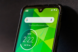 moto g7 front screen design