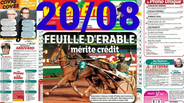 Pronostic quinté+ pmu Vendredi Paris-Turf TV-100 % 20/08/2021