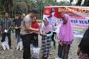 Bakti Sosial Di Lakukan Kapolres Labuhanbatu Serta Saling Berbagi Dalam Rangka OPS Aman Nusa II