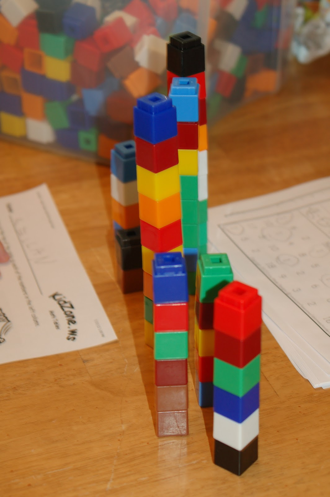 My Little Readers Math With Unifix Cubes
