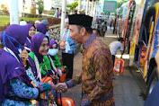 Wakil Bupati Wajo Menerima Kedatangan Jamaah Haji Kloter 19 Asal Kabupaten Wajo