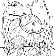 Adorable Sea Turtles Coloring Pages