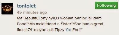 tonto dike and her housemaid oyinye'