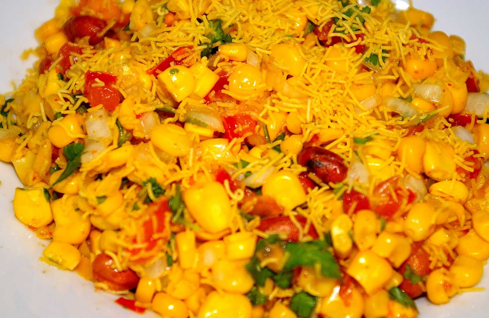 The best platform for foodies place4foodie spicy corn chaat spicy sweet corn chaat is one of the quick and easy chaat recipes that i have tried recently this is a very quick and tasty spicy sweet corn chaat recipe forumfinder Image collections