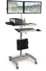 Sit To Stand Workstation On Wheels