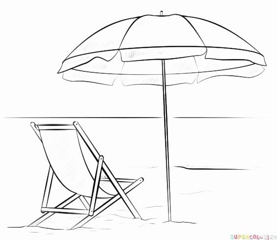 Contoh sketsa gambar pemandangan pantai
