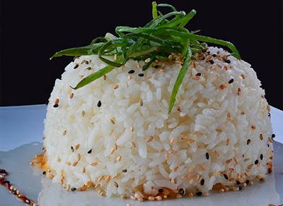 arroz al vapor japones