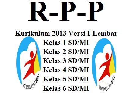 RPP Versi 1 Lembar K13 Kelas 1,2,3,4,5,6 SD/MI
