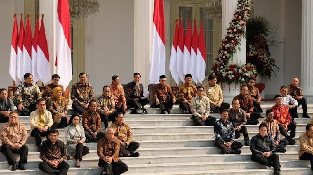Ini Nama-nama Menteri dan Susunan Lengkap Kabinet Indonesia Maju Jokowi-Kiai Ma'ruf