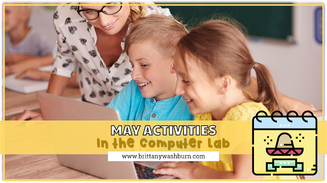 Digital Activities for grades k-5 for May that can be used in the computer lab or at home during distance learning.