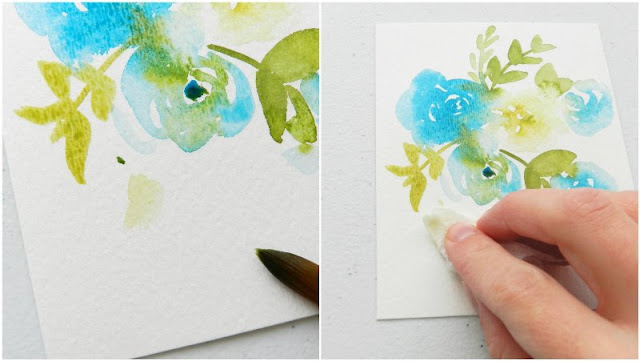 How to fix mess-ups in watercolor