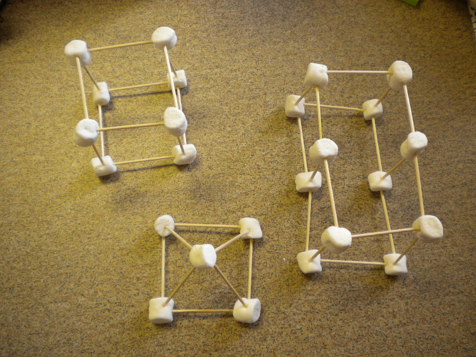 Adventures Of First Grade Marshmallows And Toothpicks 3d Shapes